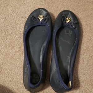 Tori Burch Navy Flats